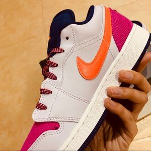 Jordan Shoes - Air Jordan 1 low Pink Corduroy US 4.5Y